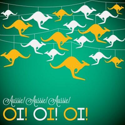 Plakat Kangaroo ozdoba Dzień Australii karty w formacie wektorowym.