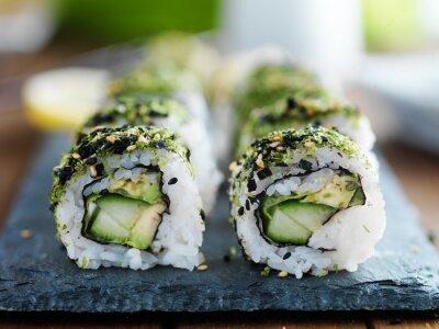 Plakat kapusta, awokado i ogórkiem Sushi
