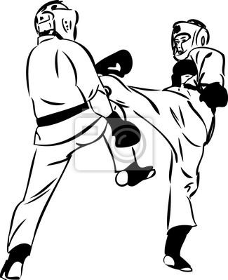 Plakat Karate Kyokushinkai Szkic Sztuki Walki I Sporty Bojowe