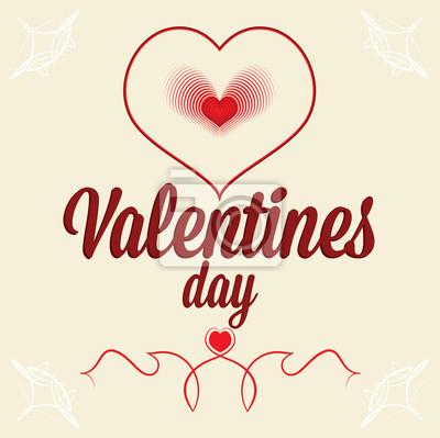 Plakat Kartkę z życzeniami na Walentynki. Serce jak odciski palców