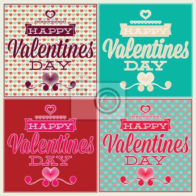 Plakat Kartkę z życzeniami na Walentynki. Set i bez szwu