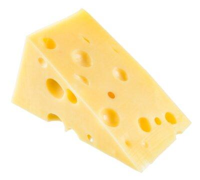 Plakat Kawałek sera izolowane. Z wycinek ścieżki.