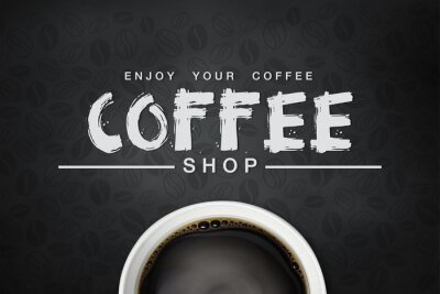 Plakat kawy backgrond