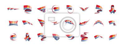 Kiribati flag, vector illustration on a white background