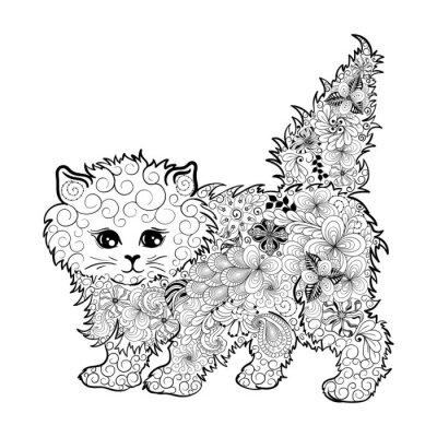 Plakat kitten doodle
