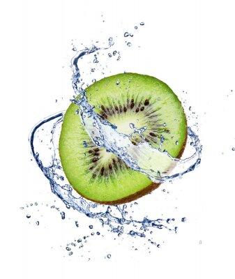 Plakat Kiwi w wodzie powitalny samodzielnie na białym tle