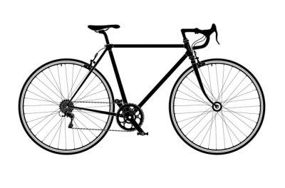 Plakat Klasyczne męskie miasto, droga rowerowa sylwetka, szczegółowych ilustracji wektorowych