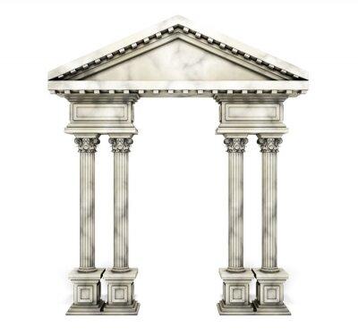 Plakat Klasyczny korynckie kolumny Arch.