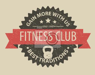 klub fitness ilustracja godło wektorowych, eps10, łatwe do edycji