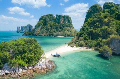 Plakat Ko Phakbia (Ko Phak Bia or Phak Bia Island), Famous place snorkel, Andaman sea, Krabi, phuket, Travel in your dream Thailand, Beautiful destination place Asia, Summer holiday outdoor vacation trip.