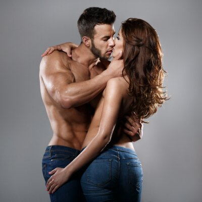 Plakat Kobieta i mężczyzna pasja
