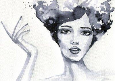 Plakat Kobiety portret akwarelowy