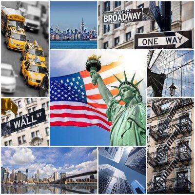 Plakat Kolaż Carré Nowy Jork - USA