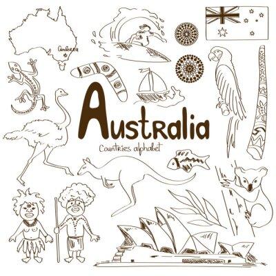 Plakat Kolekcja ikon Australii