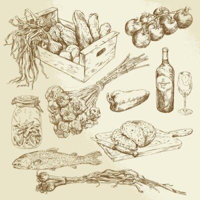 Plakat Kolekcja żywności