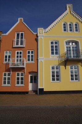 Plakat Kolorowe domy w Sonderborg