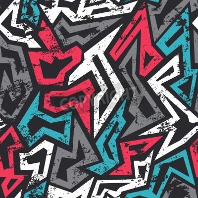 Plakat kolorowe grafitti szwu z mocą grunge