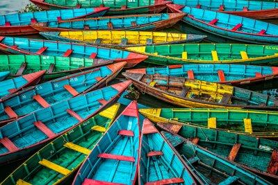 Plakat Kolorowe łodzie