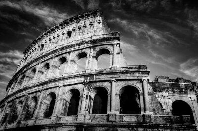 Plakat Koloseum w Rzymie, Włochy.