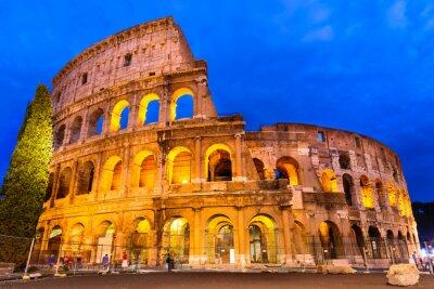 Plakat Koloseum zmierzchu, Rzym, Włochy