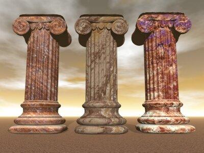 Plakat Kolumny z kamienia - 3D render