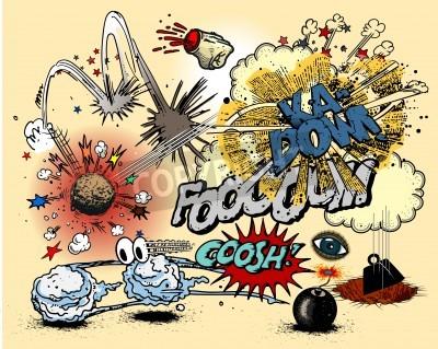 Plakat Komiks eksplozji