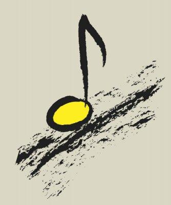 Plakat Koncepcja muzyka nuta, projektowanie logo