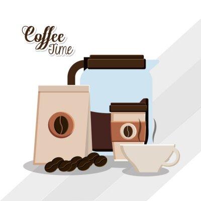 Plakat Konstrukcja czas kawy