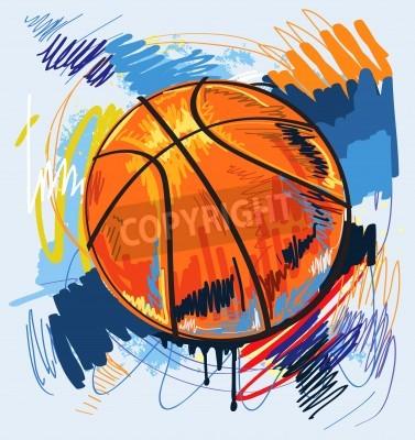 Plakat Konstrukcja do koszykówki kolor tła