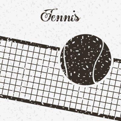 Plakat Konstrukcja tenisa sportu