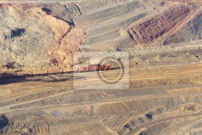 Koparka kopalnia odkrywkowa i kolejowej