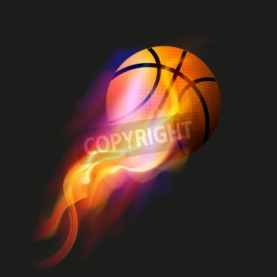 Plakat Koszykówka Fire Ball