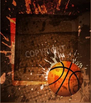 Plakat Koszykówka Plakat reklamowy. ilustracji wektorowych