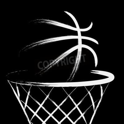 Plakat Koszykówka, wektor