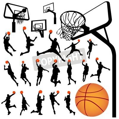 Plakat koszykówki i tablica wektor