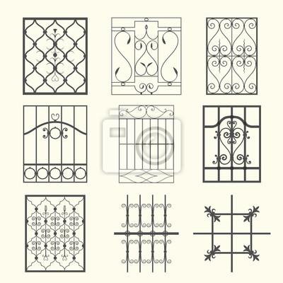 Kraty okienne metalowe Plakaty na ścianę • Plakaty grille, kowal ...