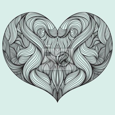 Plakat Kształt serca