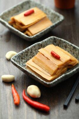 Plakat Kuchnia chińska serwowane w płycie sosie