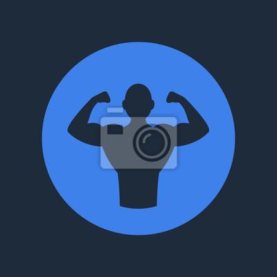 Plakat Kulturysta fitness logo ikony. Wektor