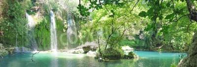 Plakat kursunlu waterfall panorama in national park turkey