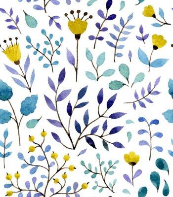 Plakat kwiatowy wzór