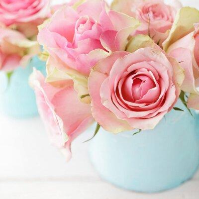 Plakat kwiaty w wazonie
