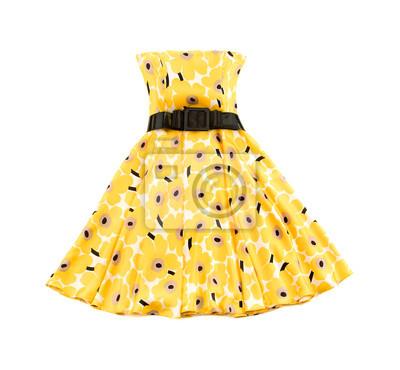 Plakat Kwiecista evase Bateau żółta sukienka