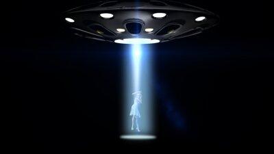 Plakat latających spodków UFO porwał kobietę