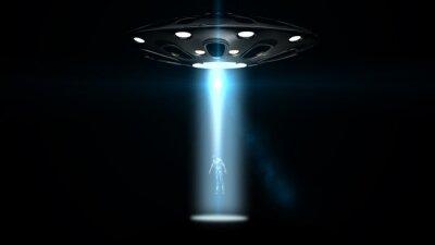 Plakat latających spodków UFO porwał mężczyznę