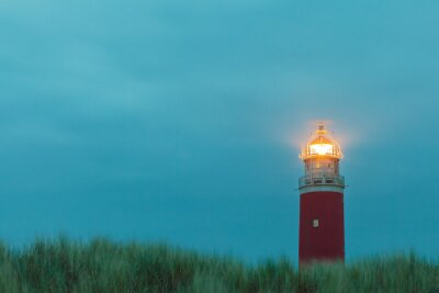 Plakat Latarnia morska na holenderskiej wyspie Texel