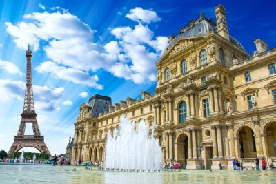Plakat Le Louvre, Paryż, Francja