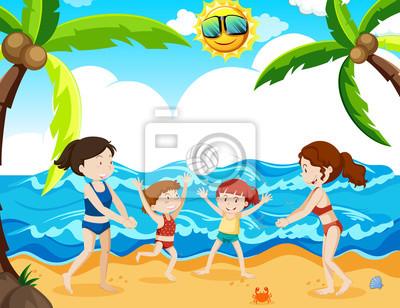 Letnie wakacje naplaży Plakaty naścianę • Plakaty obraz, rysunek ...