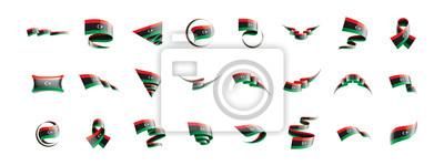 Libya flag, vector illustration on a white background