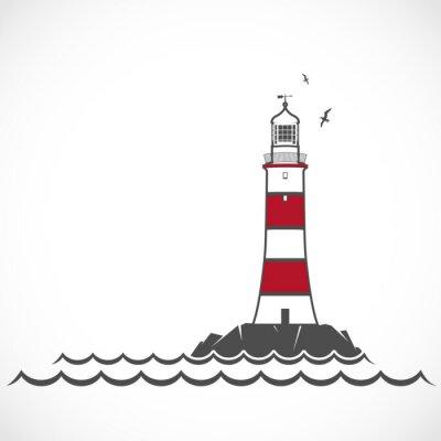 Plakat Lighthouse ikona.